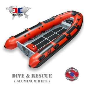 "INMAR 420R-DR (13'6"") Dive / Rescue (Rigid Aluminum Hull) Inflatable Boat (Open RIB) -0"